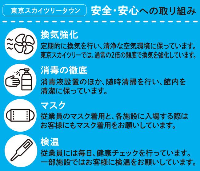 △東京スカイツリ―タウンの新型コロナウイルス感染予防の対応について