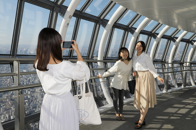 撮影スポット(天望回廊)                               ©TOKYO-SKYTREE