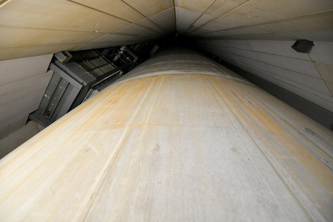 東京スカイツリー内部の構造物「心柱」                         ©TOKYO-SKYTREE