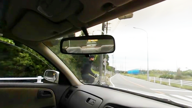 左折時の横断歩道上での人身事故
