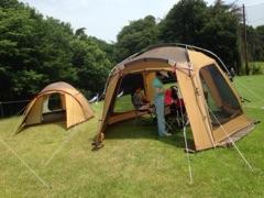 アウトドアブース キャンプ用品展示