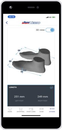 計測結果はスマートフォンのゼビオアプリで確認できます
