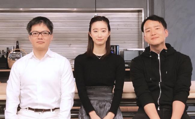 (左:XTech Ventures 手嶋 浩己氏、中央:藤井 香那、右:野口 卓也氏)