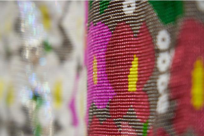 160万2000余粒からなるビーズの和衣裳作品(通期展示)