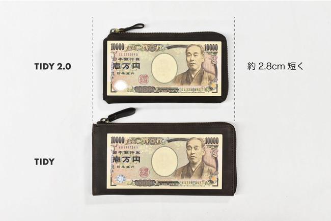 一万円札が折らずにちょうど収まる