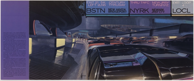 CITY ON WHEELS (C)Syd Mead, Inc.