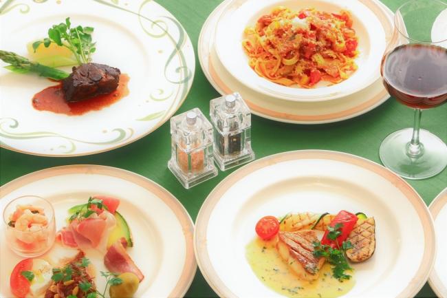 旬の食材を使ったイタリアンフルコース