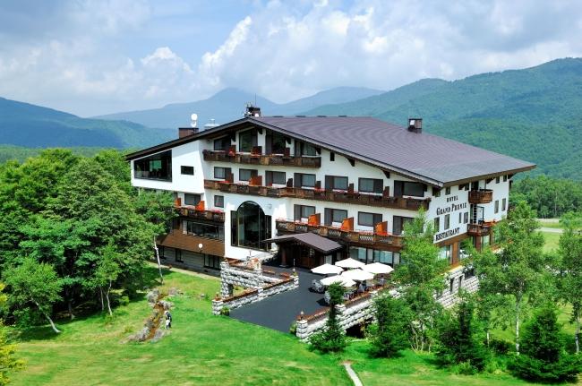 ヨーロッパ調の佇まいのホテルグランフェニックス奥志賀