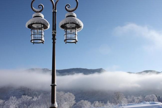 雪山をゆったり眺めながらのファスティング