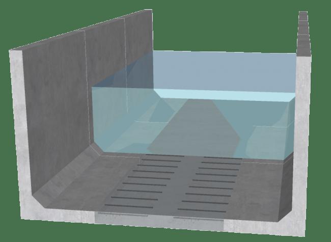 L型水路のイメージ図