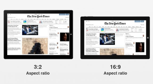 アスペクト比別の使用イメージ比較