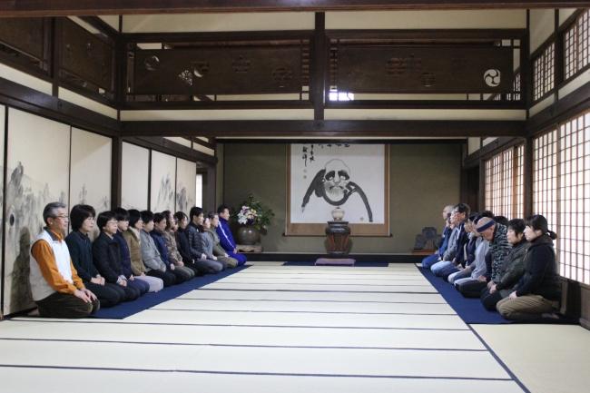梅林寺の座禅体験