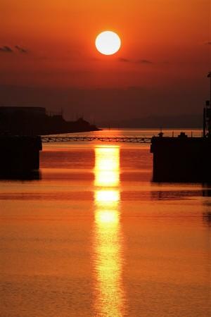 三池港から見える「光の航路」