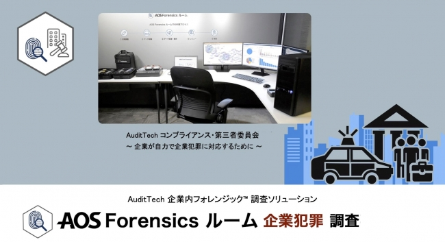 AOS Forensics ルーム 企業犯罪 AuditTech