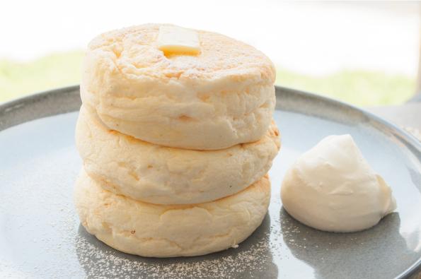 大人気のふわふわリコッタパンケーキ