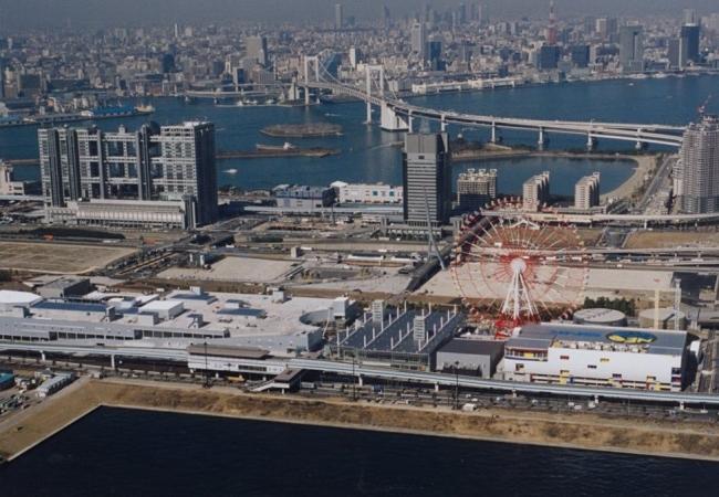 開業当初のパレットタウンの全景(1999年)