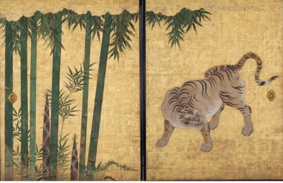 竹林豹虎図 (C)名古屋城総合事務所提供