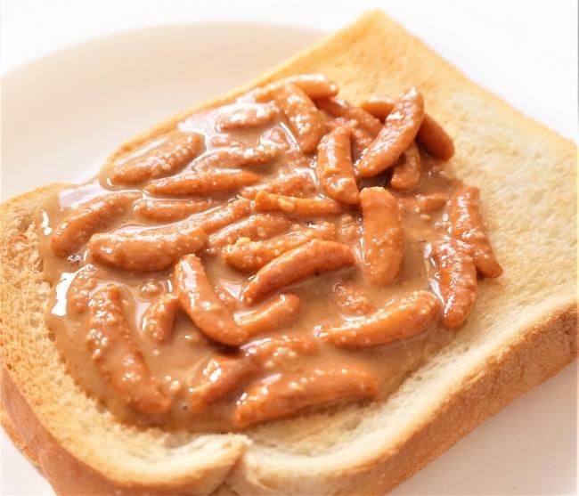 お好みの混ぜ方と量をパンにのせて
