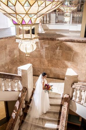 「オキナワ マリオット リゾート & スパ」の大階段