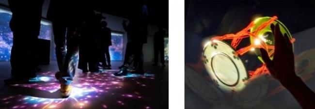 写真左:「KABUKI ノ ヒカリ」 <吉野の花道>イメージ、写真右:「KABUKI ノ ヒカリ」 <光景の奏>イメージ