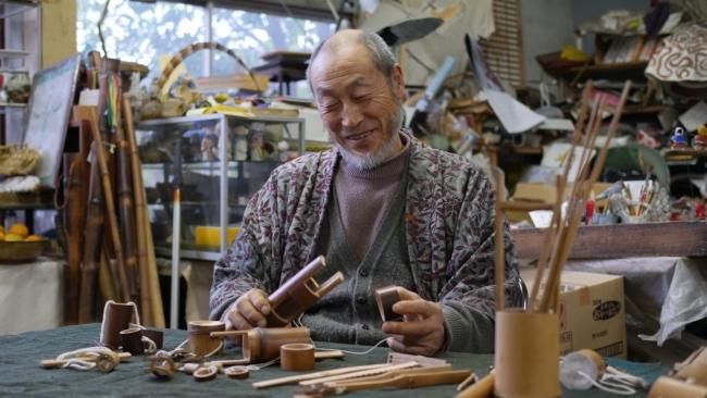佐渡の長老が教える竹のおもちゃ作り
