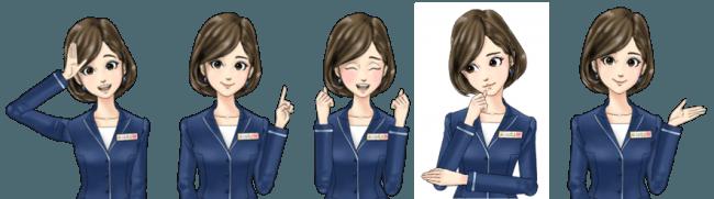 TBS社内で作成したオリジナルキャラクター「AoIかなえ」