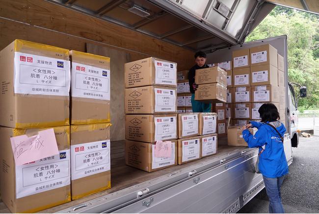 支援物資は被災地に行き配布する