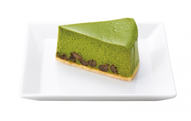 抹茶と大納言あずきのチーズケーキ