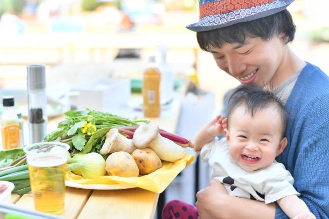 生産者指定のおいしい野菜は子どもに大人気!