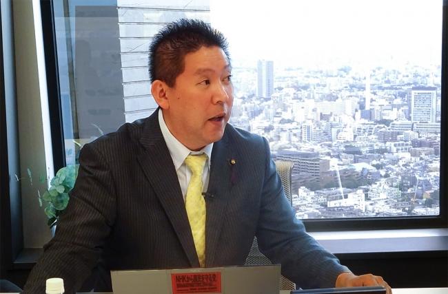 NHKから国民を守る党 代表 立花孝志氏が「ニューズ・オプエド」に生 ...