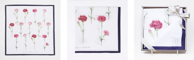 カラー:ネイビー 右)刺繍代別途500円(税抜)