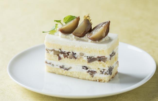 栗のショートケーキ