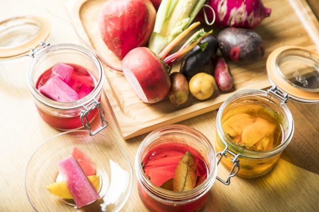 季節野菜を使ったシェフオリジナルレシピも店内で提供中です