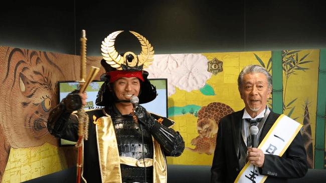 """名古屋おもてなし武将隊""""徳川家康と高田純次さん"""