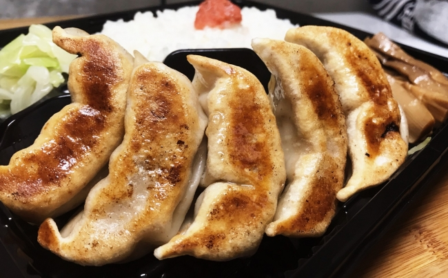 肉汁焼餃子定食 980円