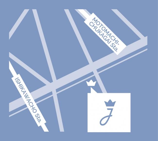 「ジャカディ横浜元町店」地図