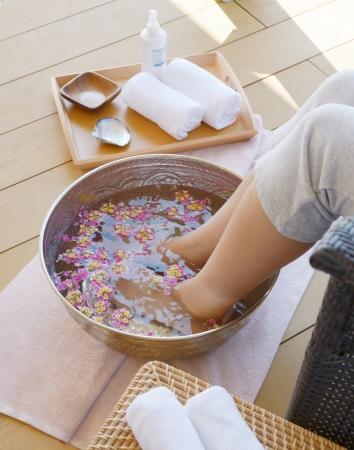 「真珠の湯」を足元から浸かる「フットバス」
