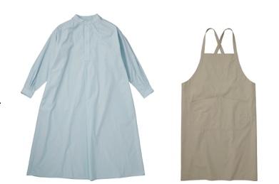 ロングスモックドレス、エプロン(LDKWARE)
