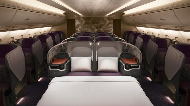 A380R ビジネスクラス(2席を利用した場合)