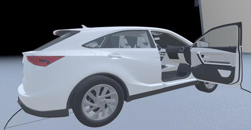 図:3Dモデル表示だけでなく、実際の動きをアニメーションで表示することが可能