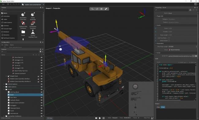 シミュレーションモデル開発GUIイメージ画面