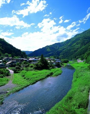 神流川が流れる美しい上野村