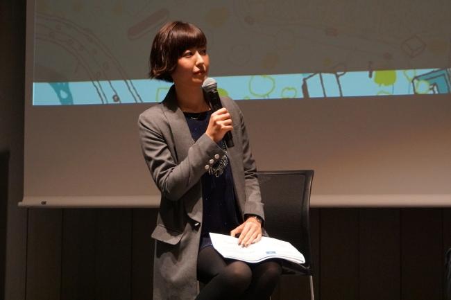 モデレーターを務めた黒田有彩さん・将来、宇宙飛行士を目指し様々な活動を進めている