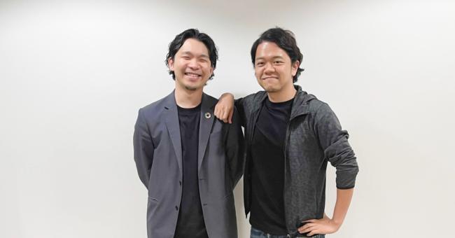 左から、Luup代表岡井と前川明俊氏。