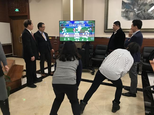 中国子供基金会での様子