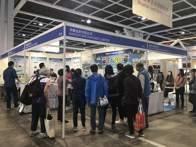 香港での展示会の様子