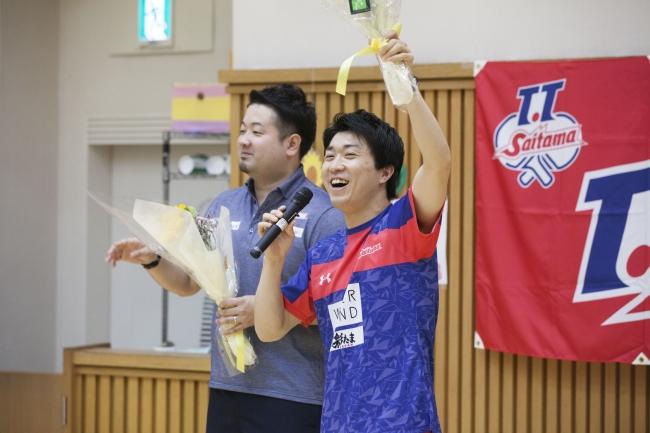 <意気込みを語る坂本監督と神選手>