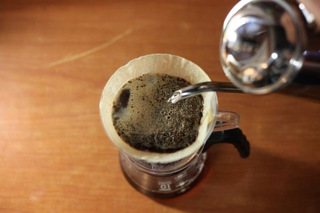 こだわりの豆を使い、利用者さんが淹れたコーヒーを提供
