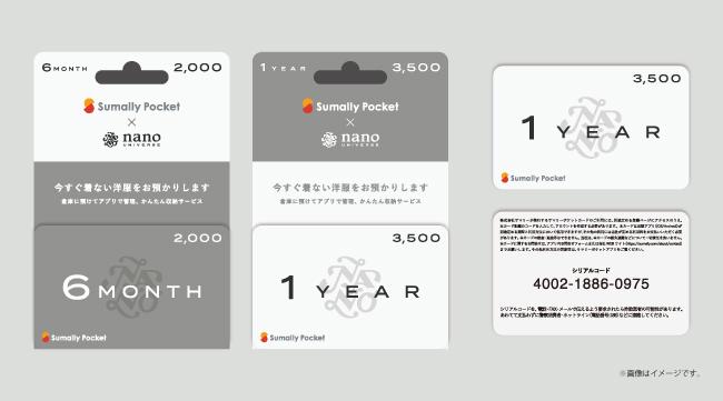 ナノ・ユニバースとコラボしたサマリーポケットカードのイメージ