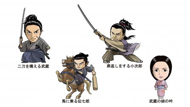 映画「武蔵-むさし-」の2頭身キャラクター